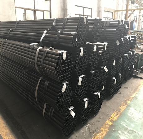 Black round Mild Carbon Steel Pipe from China Tianjin