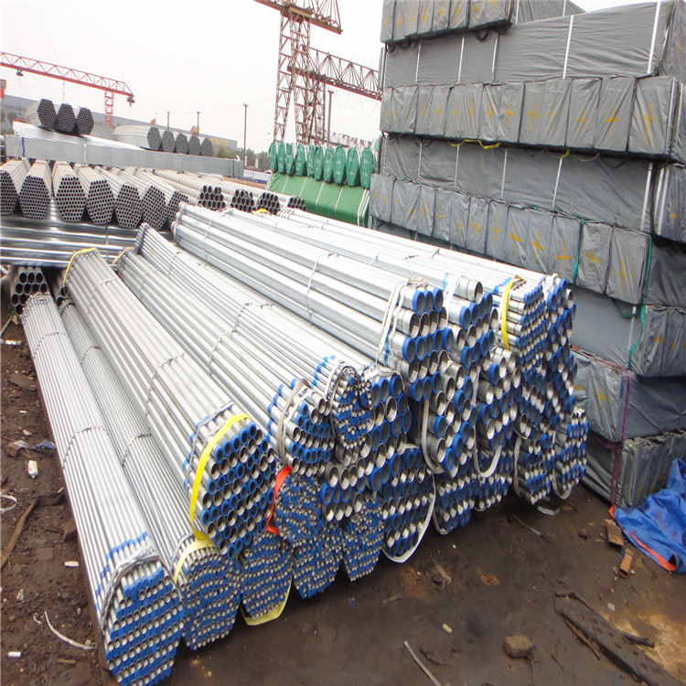 BS1387 hot dip galvanized steel pipe hot rolled round galvanized steel pipe galvanized pipe